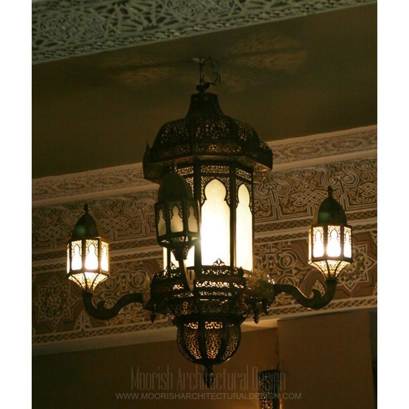 Large rustic chandelier