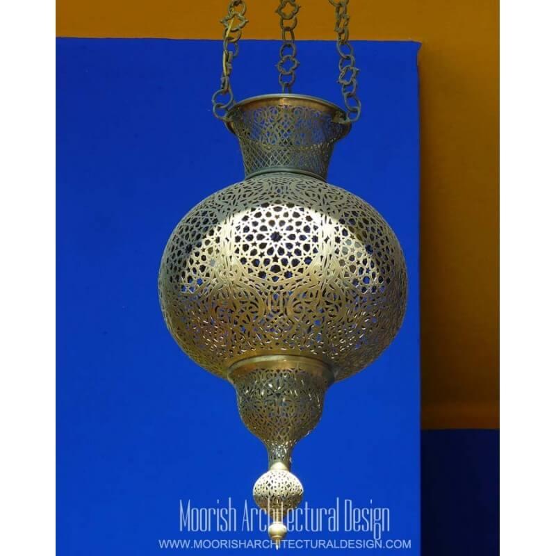 Moroccan hall way lighting