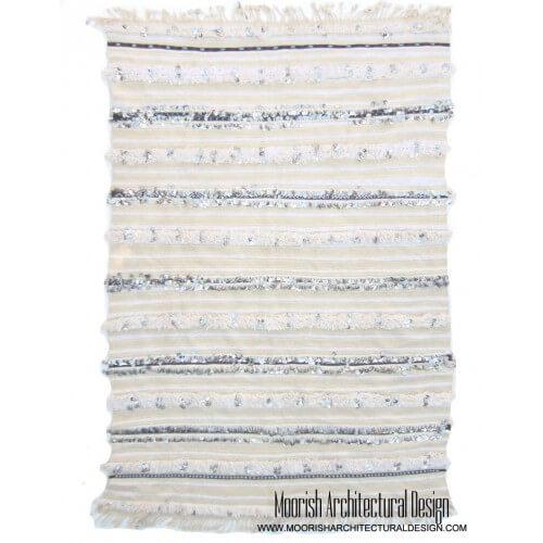 White Moroccan Wedding Blanket