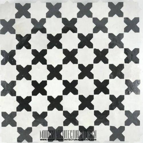 Moroccan Monochrome Tile 03