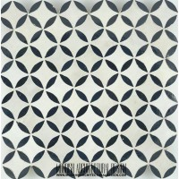 Moroccan Monochrome kitchen tile