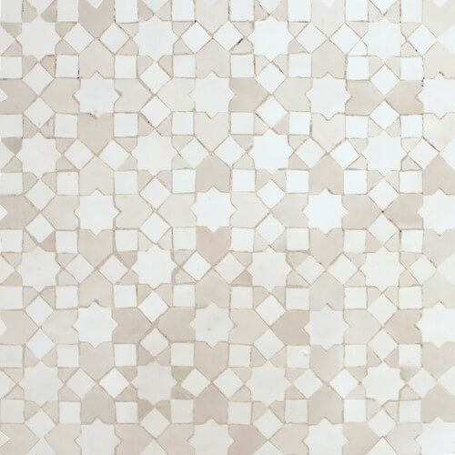 White Moroccan Tile 01