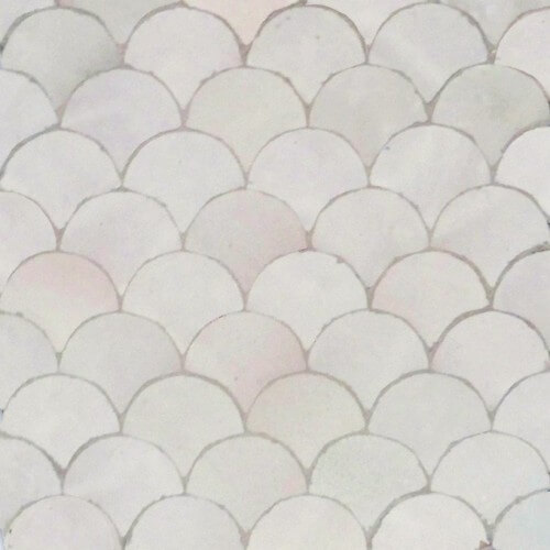 White Moroccan Tile 02
