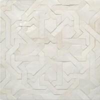 White Moroccan bathroom floor tile