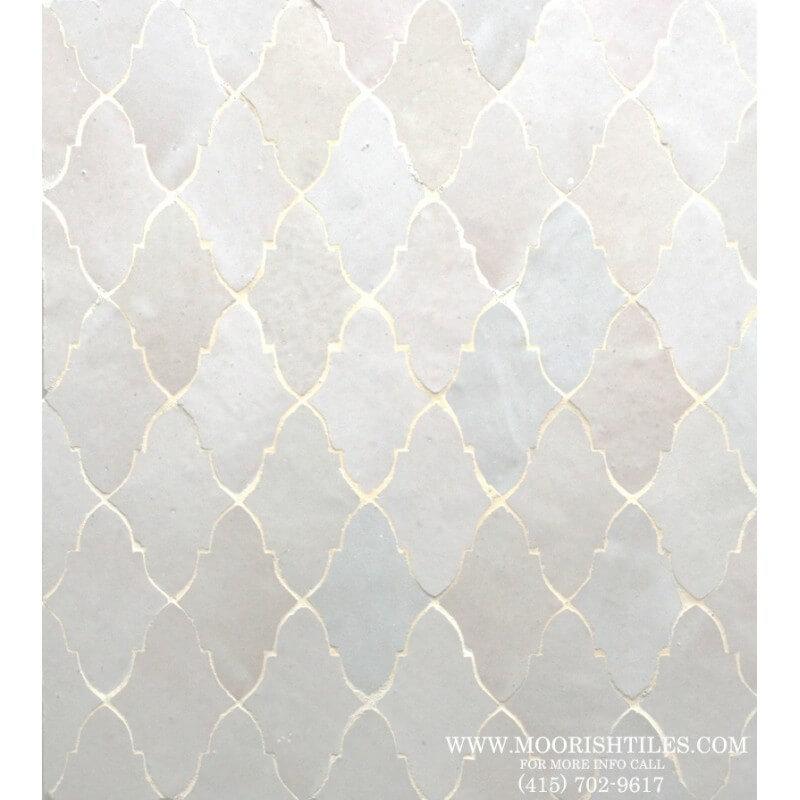 White Moorish Kitchen floor tile