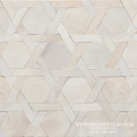 White Moorish shower tile