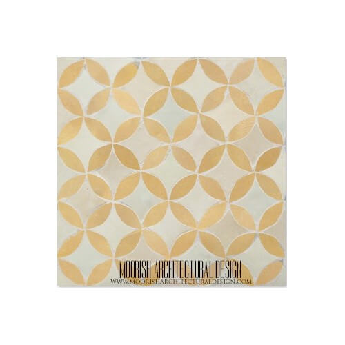 Rustic Moroccan bathroom floor tile