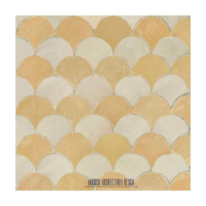 Rustic Moroccan Kitchen backsplash mosaic tile