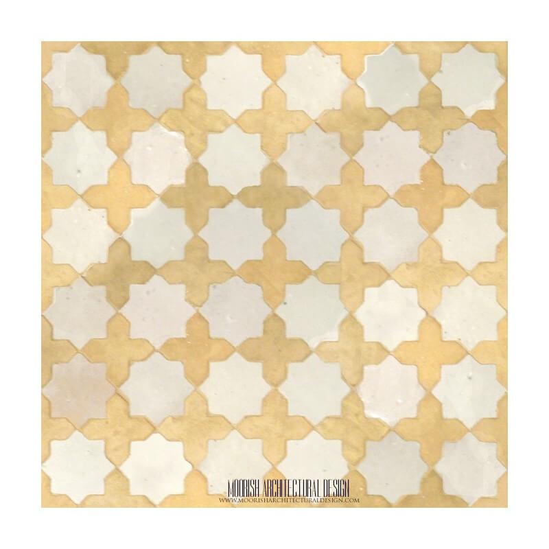 Rustic Moroccan mosaic shower tile