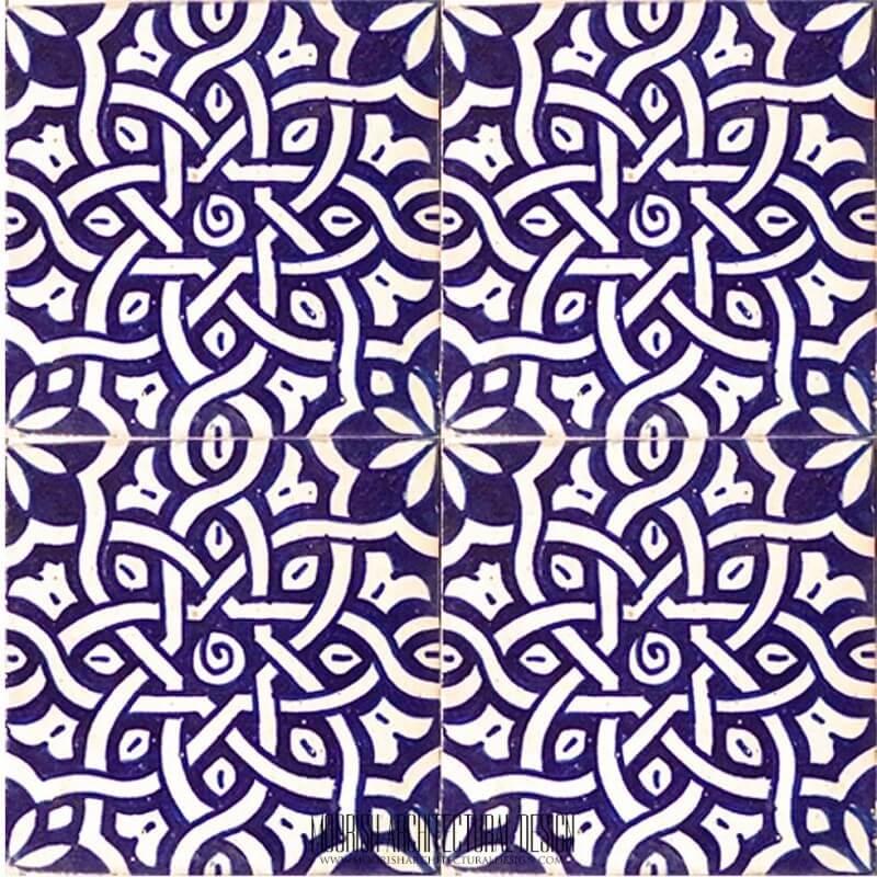 Spanish blue ceramic bathroom tile