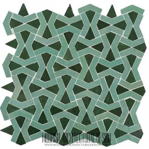 Green Weave Tile