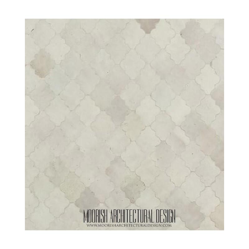 Moroccan kitchen tile white