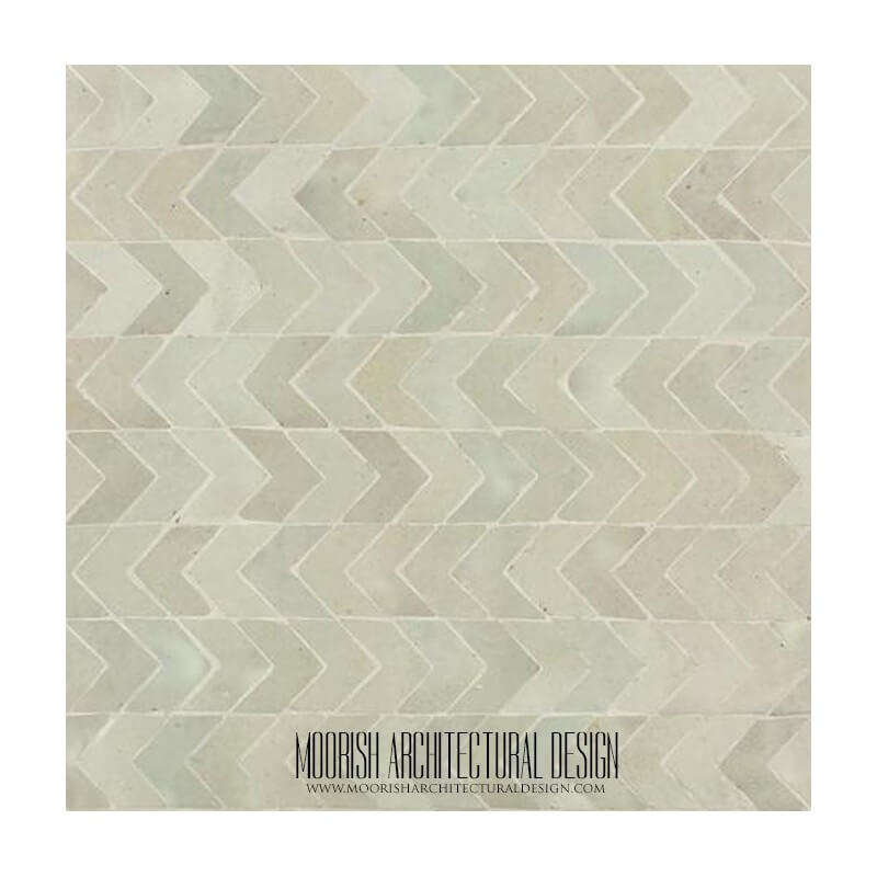 White Moroccan Kitchen Tile Design