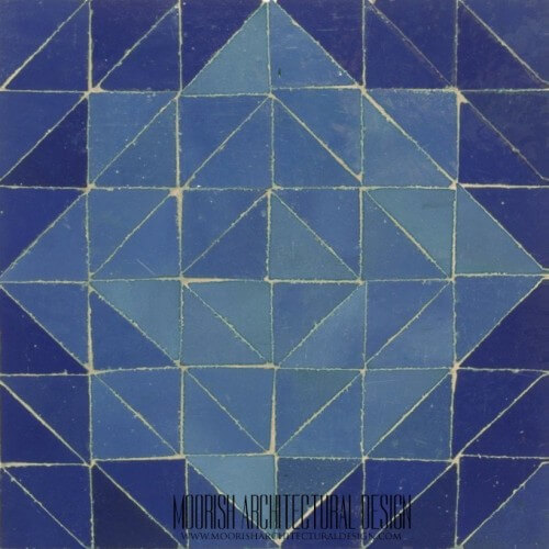 Blue Triangles Tile
