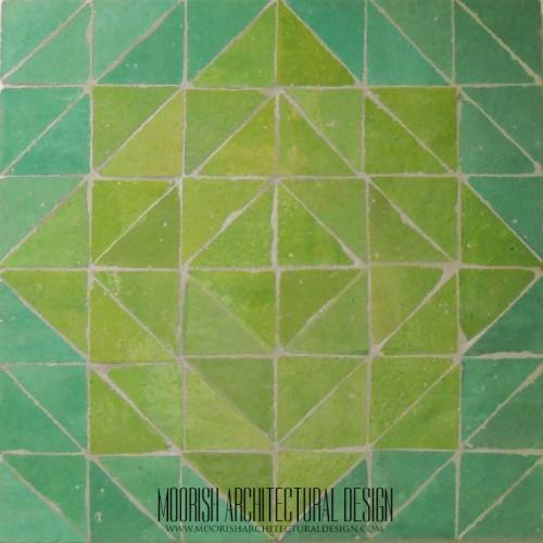 Green Moroccan Star Tiles