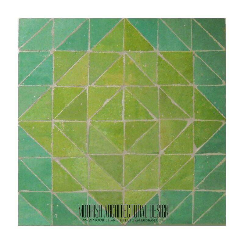 Green Moroccan backsplash tile design