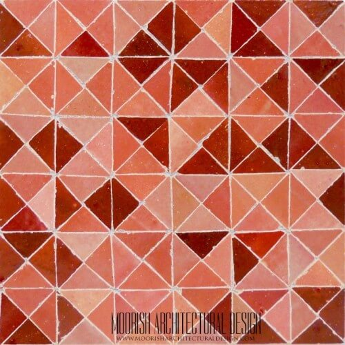 Rose Triangles Tile