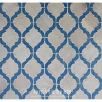 Blue Arabesque Tile