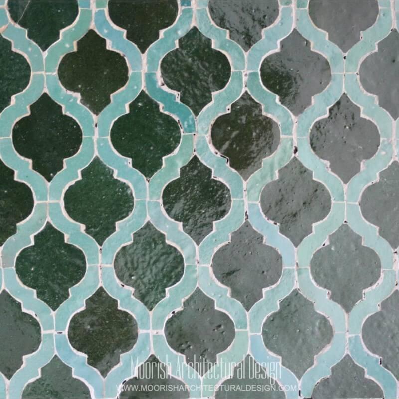 Green Arabesque Tile