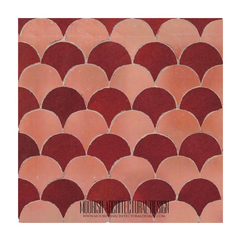 Red Fish Scales Tile