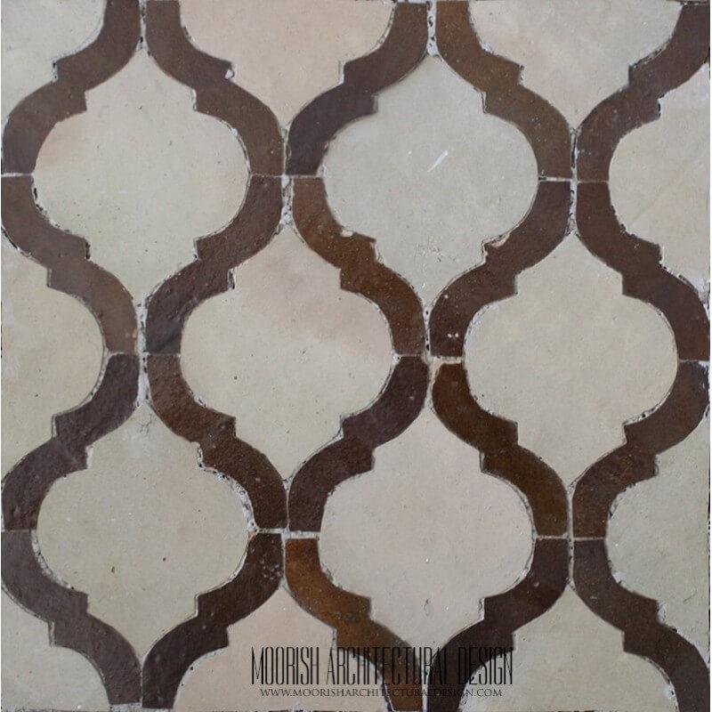Brown Arabesque Tile