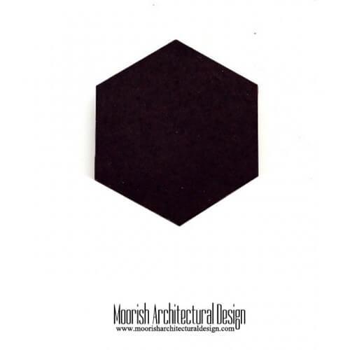 Black Hex Tile
