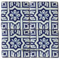 Blue Moroccan Bathroom Floor Tile
