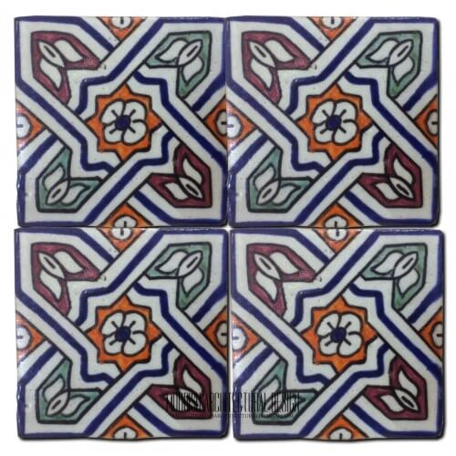 Moroccan Hand Painted Tile 23