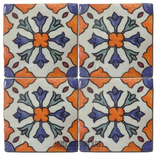 Moroccan Hand Painted Tile 25