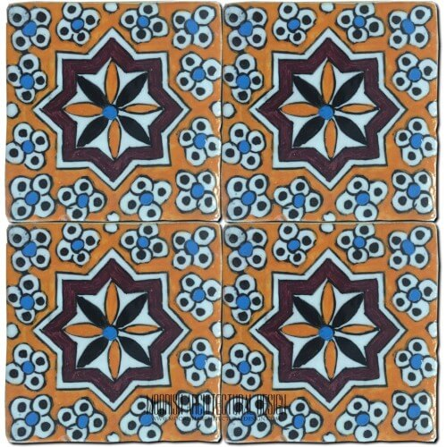 Moroccan Hand Painted Tile 29