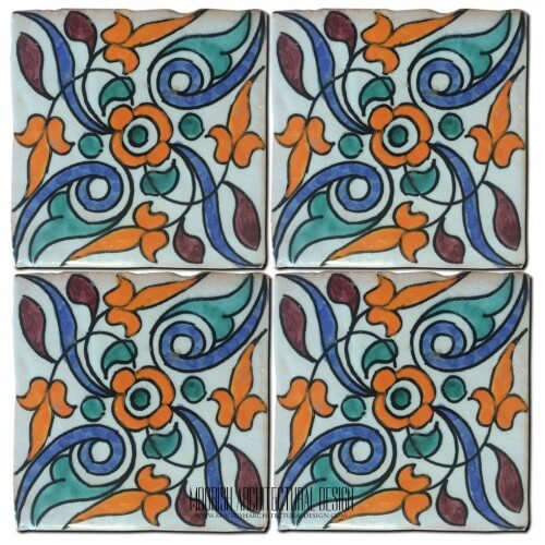Moroccan Hand Painted Tile 31