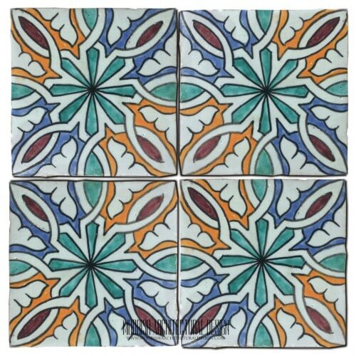 Moroccan Hand Painted Tile 35