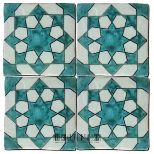 Moroccan Hand Painted Tile 36