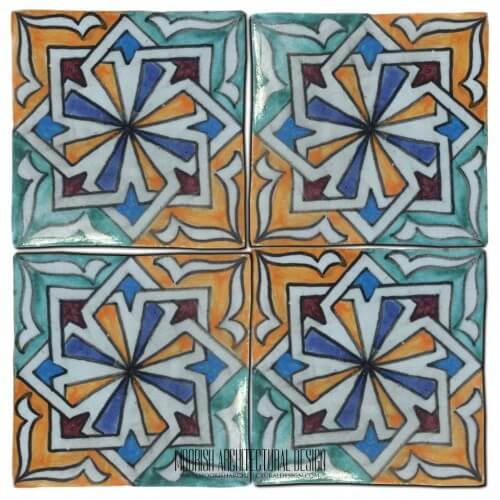 Moroccan Hand Painted Tile 42