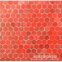 Red Hexagon Tile