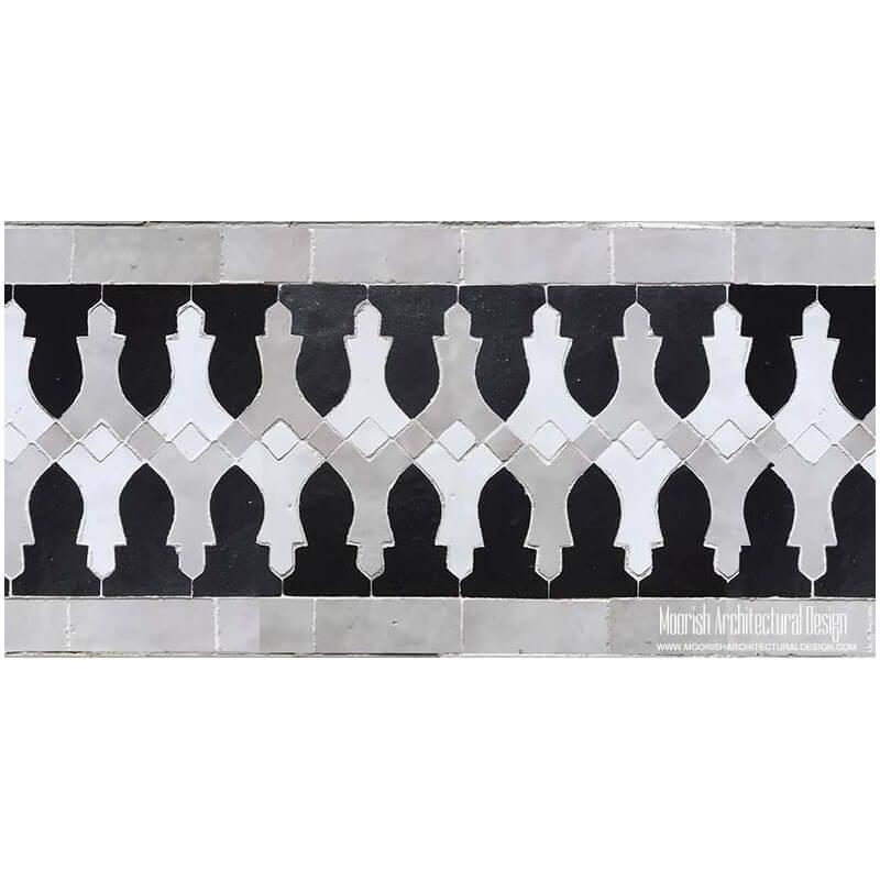Mediterranean mosaic pool tile