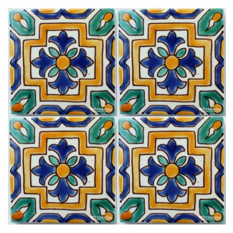 Green Mediterranean ceramic Tile