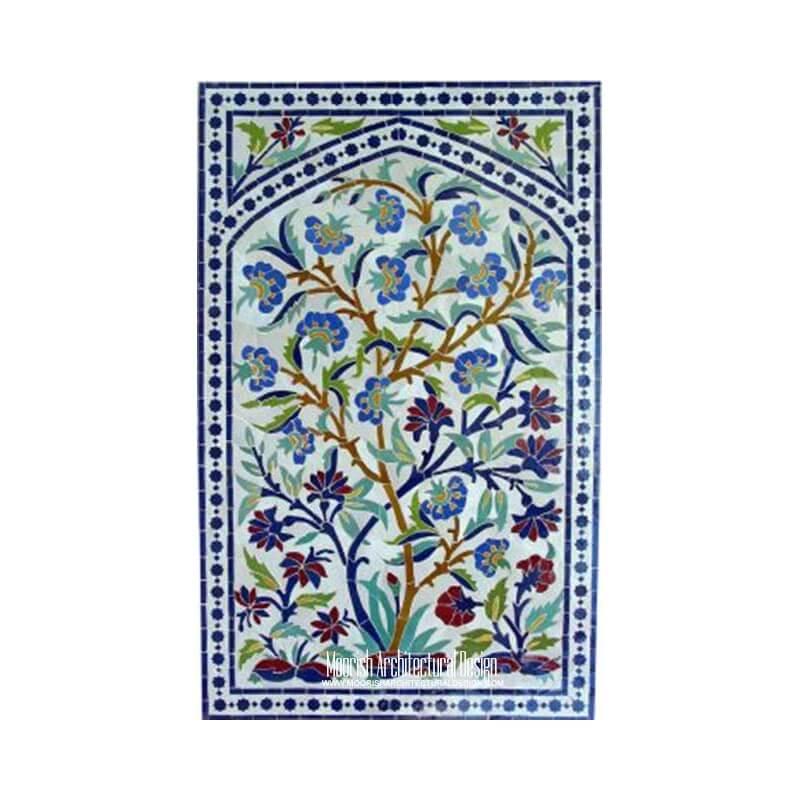 Kitchen backsplash mosaic tile mural