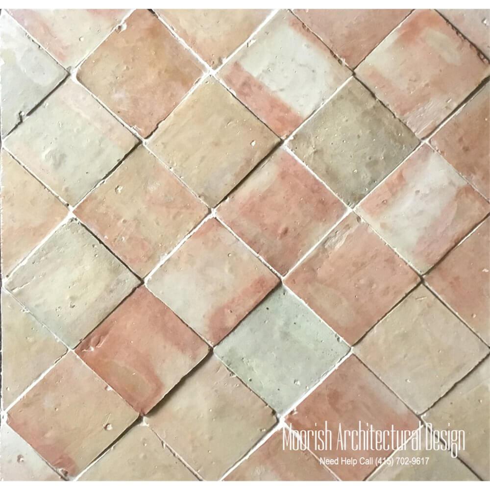 Terracotta tiles moroccan clay tiles 4x4 moroccan terracotta doublecrazyfo Image collections