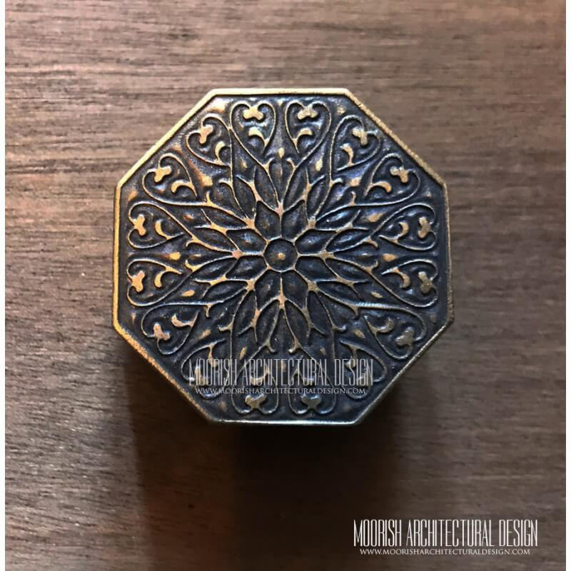 Moorish Cabinet Hardware Brass Knobs
