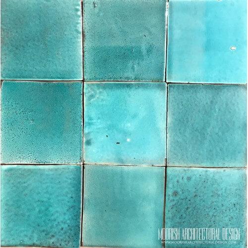 Moroccan Aqua Green Pool Tiles