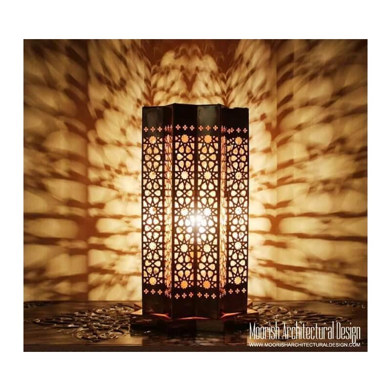 Custom hotel lobby lamps