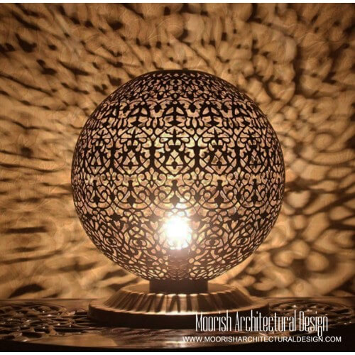 Custom Moroccan restaurant lighting