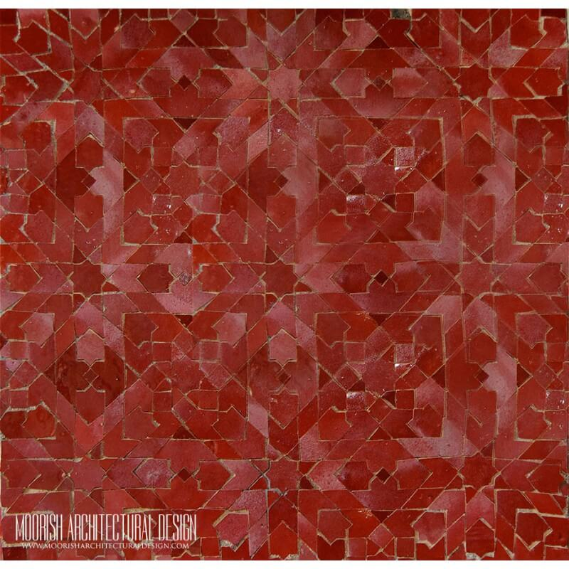 Red Moroccan Mosaic tile