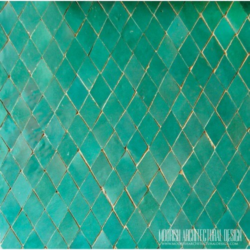 Aqua Green Moroccan Diamond Tile
