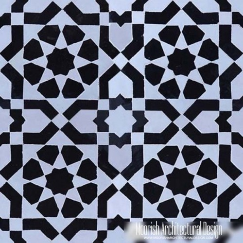 Black & White Moroccan Tile
