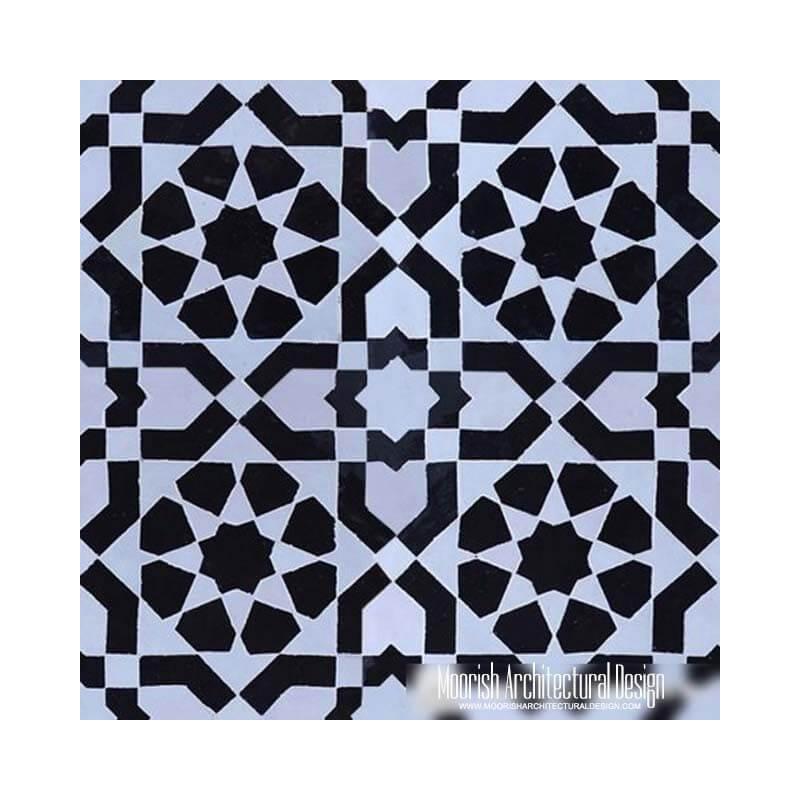 Black & White Moroccan Tile