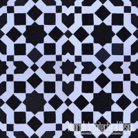 black & white mosaic tiles