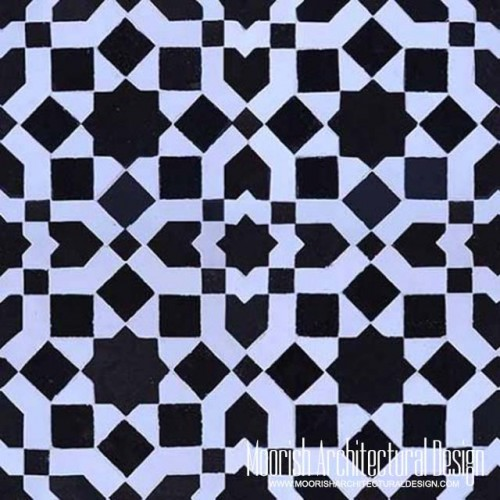 black & white mosaic tiles