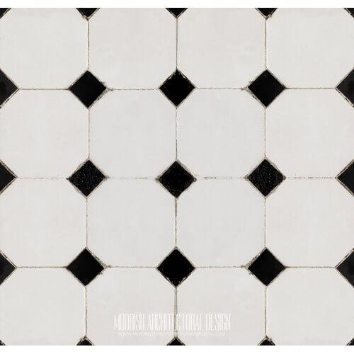 Moroccan Monochrome Tile 14